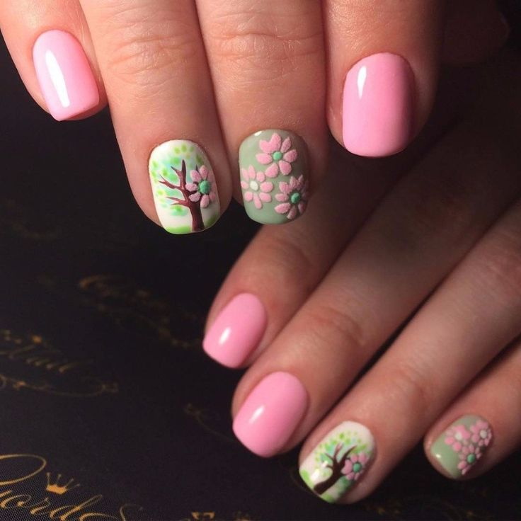 Nail Ideas For April: 17 Best Ideas About Two Color Nails On Pinterest
