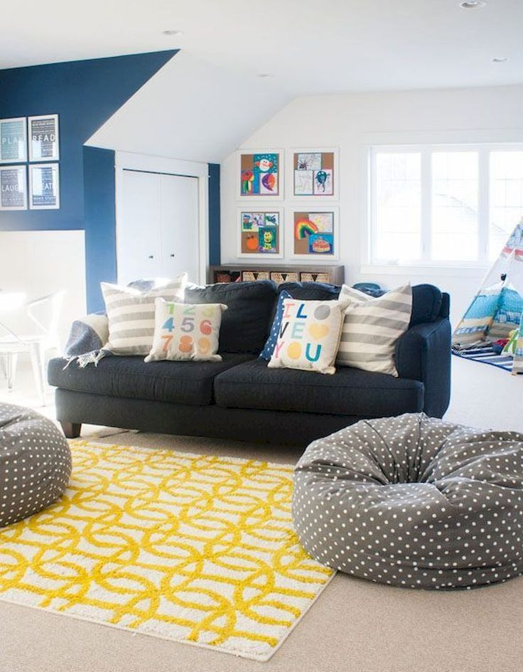 75 Cute Basement Playroom Decorating Ideas Kids Living Rooms Colorful Playroom Family Room Design
