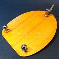 """Weyers Bros. planchette with """"third wheel"""" pointer attachment."""