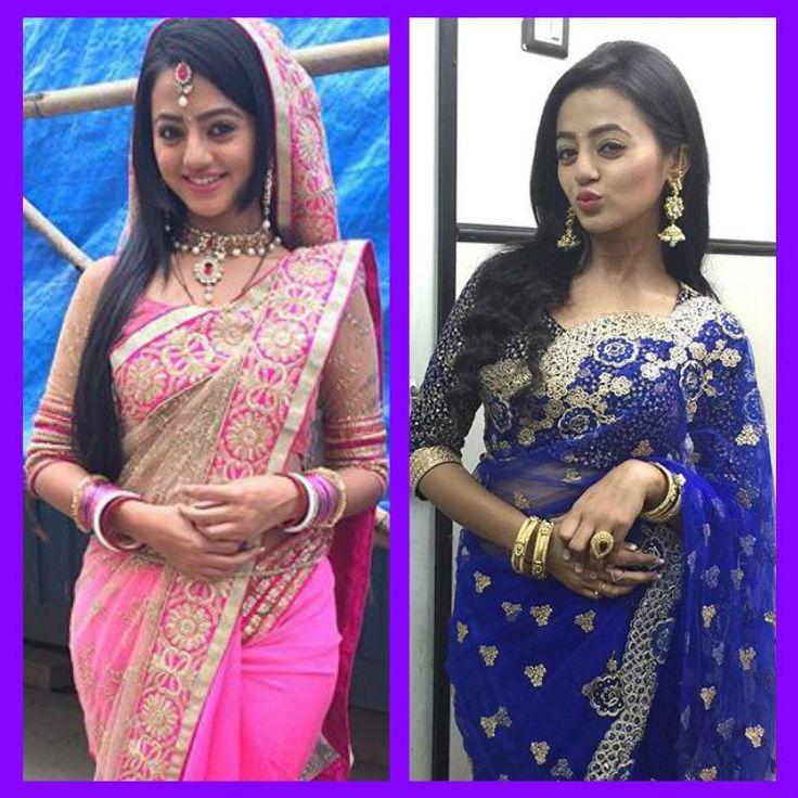 Pink sari or blue sari? comment PLZ
