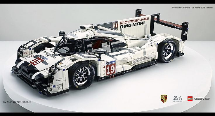 https://flic.kr/p/P4v1wF | LEGO Technic - Porsche 919 - Le Mans 2015 v. | Hello everyone!  My name is Manuel Nascimento and I'm an AFOL, fan of Porsche and the legendary race 24 Hours of Le Mans.  The Challenge: What challenged me in this construction was to create a LEGO replica of the winning car number 19 of 2015. The main intent for the construction of this model was for static display or exhibition. I don't think that this car is a good model to roll in the ground since is very low…