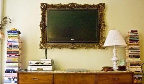 tv.: Tv Frames, Mirror Mirror, Guest Bedrooms, Frames Tv, Old Frames, Cool Ideas, Tvs, A Frames, Pictures Frames