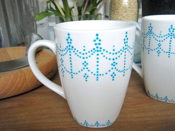 hand painted mug etsy.com $9.00