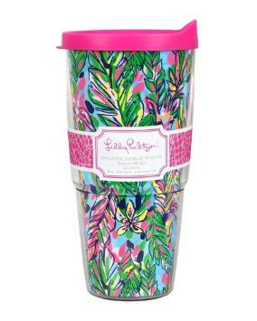 Lilly Pulitzer Insulated Tumbler with Lid 24oz