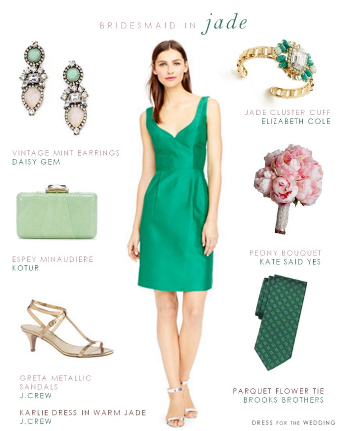 Emerald or Jade Green Bridesmaid Dress via @dressforwedding