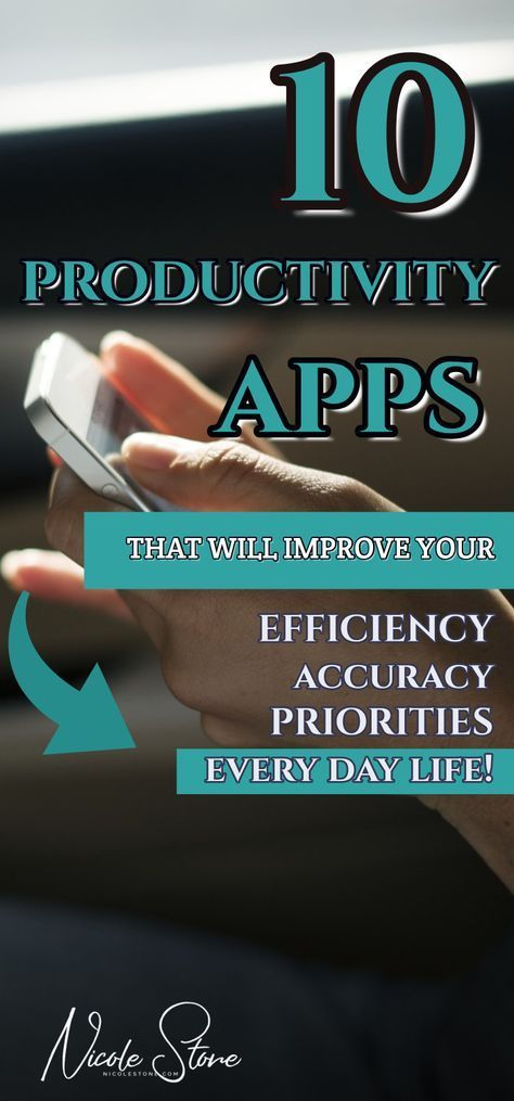10 Productivity apps guaranteed to teach you how to become more productive. The ultimate productivity tips are to become organized, accountable, and prioritize. This list of apps help you do all of that and more. Click through to get the entire list! #productivity