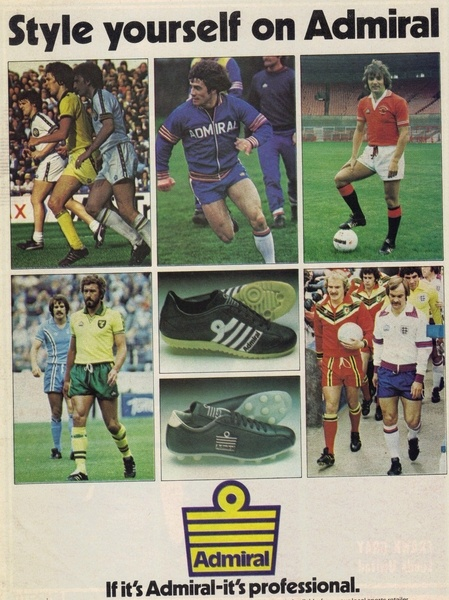 Vintage 1978 Admiral Sportswear Ad