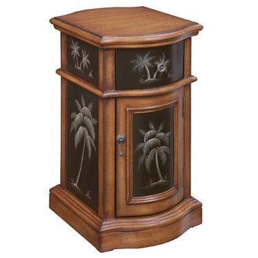 Kellsie Palm Tree Storage Accent Cabinet Trees Cherries