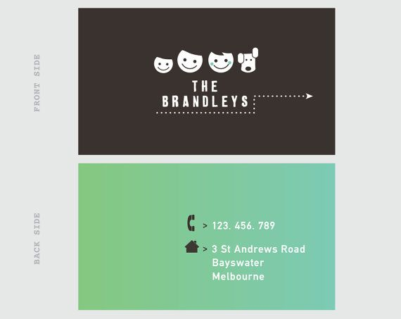 Printable Calling Card Template Family Contact Premade With Pet Our