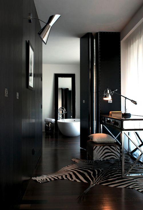 Inspiratie beeld. Zwart wit interieur. black and white #home #interior