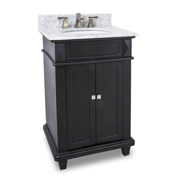 Elements Douglas Black Bathroom Vanity   VAN057 30 T MW
