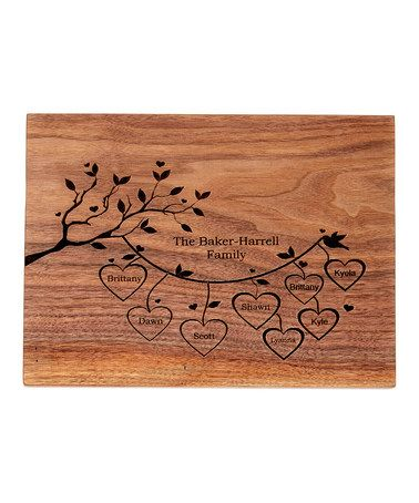 Love this Personalized Family Tree Cutting Board on #zulily! #zulilyfinds