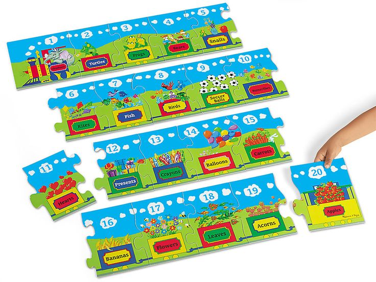 Number Train Floor Puzzle Floor puzzle, Train puzzles