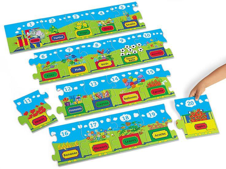 Number Train Floor Puzzle Floor puzzle, Train puzzles