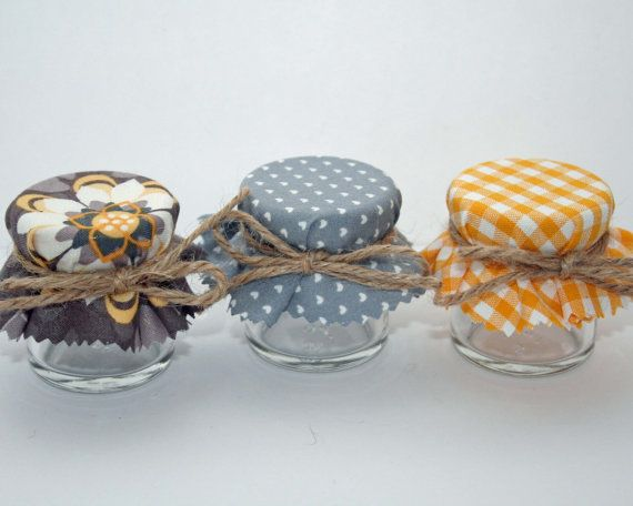 Min Jar Wedding favours silver grey wedding by Melysweddings