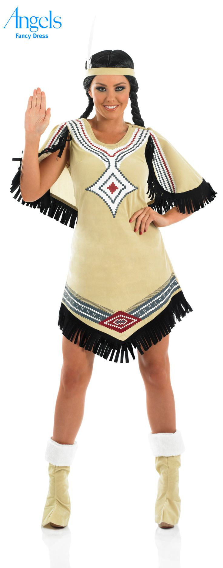 This is HOW to look fabulous and channel Native American chic in this fun Indian Scout costume (see what we did there). This pack includes a light brown fringed dress with printed detail, headband with feather and boot covers so (so you don't get cold). http://www.fancydress.com/costumes/Indian-Scout/0~4496652~284