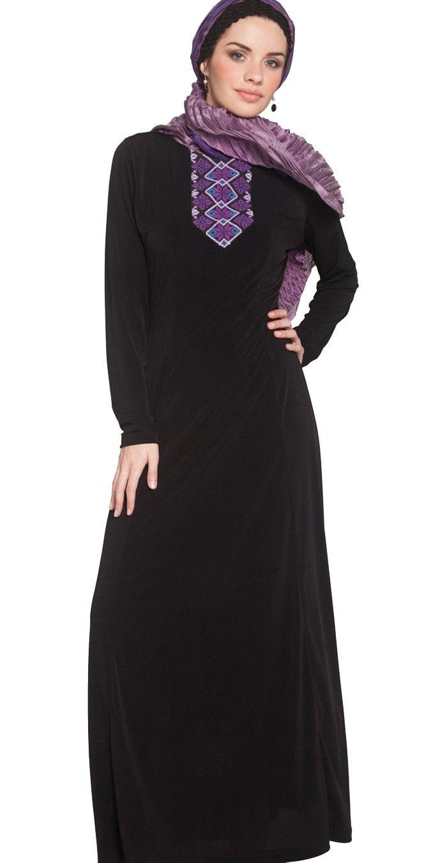 Reem Palestinian Hand Embroidered Long Maxi Dress - Modest Islamic Fashion