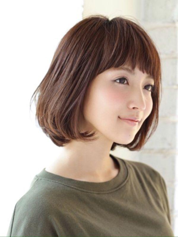 30代の女性がー5歳若返る 黒髪ミディアムの髪型 ヘアスタイル を