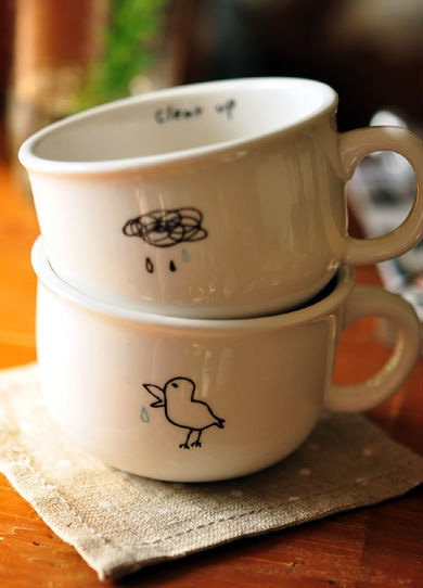 zakka grocery Wind animal milk breakfast cup / glass / cup / cup / mug / ceramic cup-ZZKKO