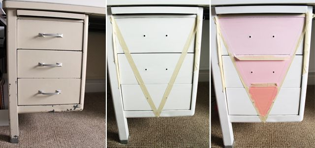 17 best ideas about metal desk makeover on pinterest Desk Made From File Cabinets file cabinet corner desk diy