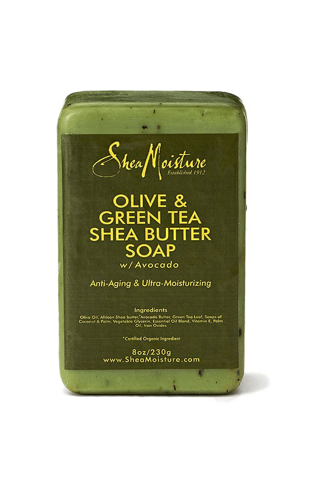 Our ultra-moisturizing bar soap is specially formulated with organic Shea Butter and vitamin-rich Olive and Avocado Oils to cleanse, deeply hydrate and repair dry skin. Antioxidant-rich Green Tea Extr