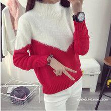 Áo len nữ dài tay, thiết kế trẻ trung, phối màu hiện đại