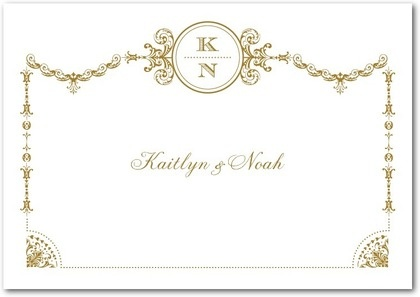 personalized thank you cards, Framed Elegance: Umber
