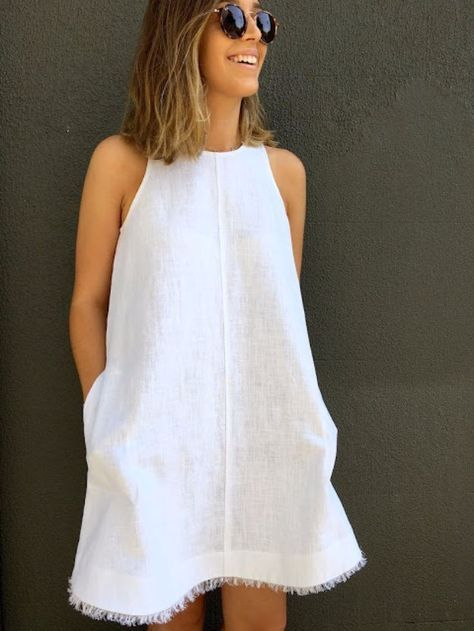 DIY Dresses to Sew for Summer - Pebble Washed Modified Ruby Dress - Best Free Patterns For Dress Ideas - Easy and Cheap Clothes to Make for Women and Teens - Step by Step Sewing Projects - Short, Summer, Winter, Fall, Inexpensive DIY Fashion http://diyjoy.com/sewing-dresses-patterns-summer