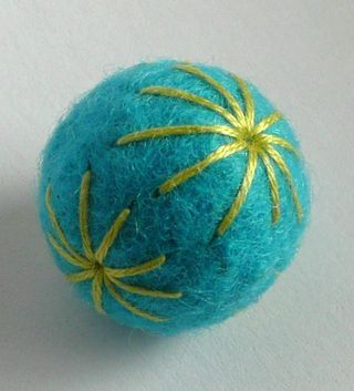 Nice tutorial on felted beads.  The only thing I would note is that she says you need merino top for this, but any wool will work.  I'm going to use Icelandic wool.