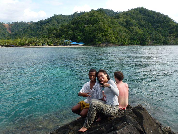 Say cheers !!!                                                  at Tablanusu beach, Papua, Indonesia