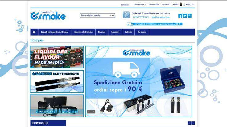 """E-COMMERCE """"ESMOKE"""" - Vendita Sigarette Elettroniche  https://esmoke.mcwstore.com/"""