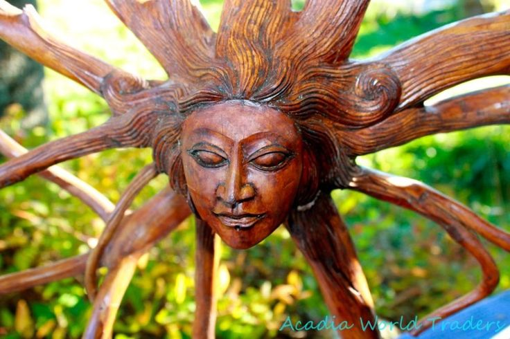 Bali Mother Nature Goddess Tree Root Sculpture Carved