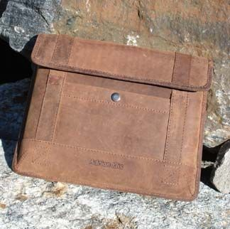 Buffalo-hide iPad case by Adrian Klis