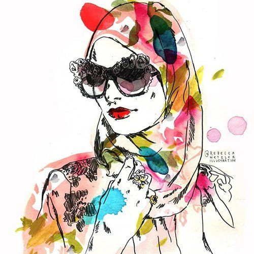 Rebecca Wetzler rebeccawetzler.com rebeccawetzlerillustration #Fashion #Illustration #Fashion Illustration #Hijab