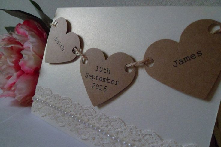 A personal favourite from my Etsy shop https://www.etsy.com/uk/listing/204674773/love-hearts-and-lace-wedding-invitation