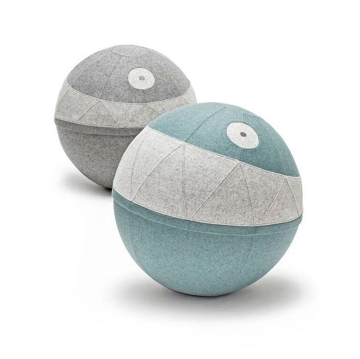 Rollo, upholstered ball/pouffe/seating, design: Katarzyna Okińczyc
