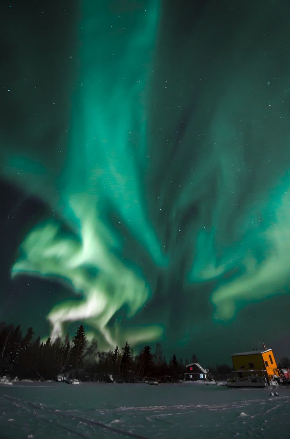 HouseBoats Aurora Nights by Jason Simpson on 500px