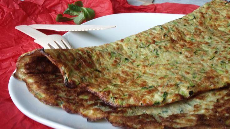 Diétás (fogyókúrás, IR diétás) tortilla lap reszelt cukkiniből, akár vacsorára is fogyasztható!
