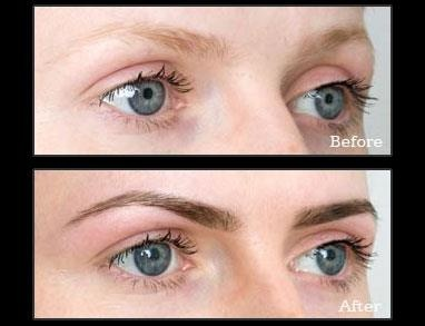 This girls eyes come out so much better with Beautiful Brows make-up!
