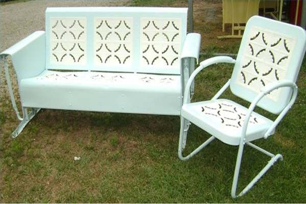 Pics For > Vintage Metal Outdoor Furniture