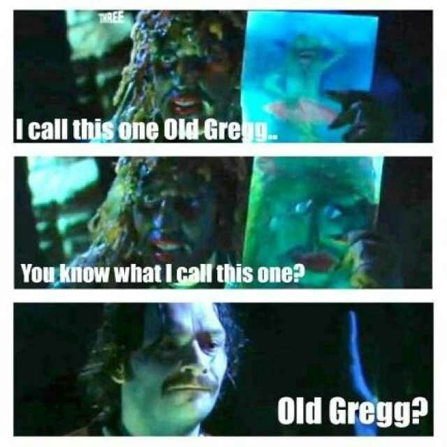 Old gregg . The mighty boosh.