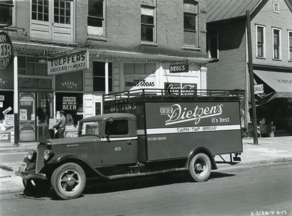 Dietzen's Bakery Delivery Truck | Photograph | Wisconsin Historical Society