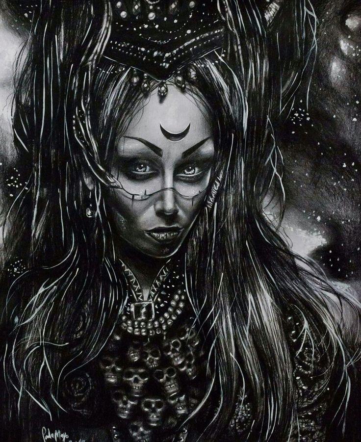 https://paulamayo.wixsite.com/paulamayoart #paulamayoart #paulamayo #illustration #girl #demon #skull #sucubo #lilith #paulamayoillustration