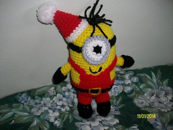 Santa Minion Doll by CraftingAddiction on Etsy
