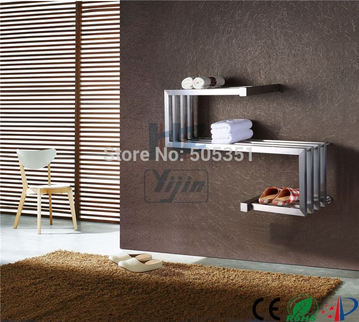 279.00$  Buy now - http://aliaos.worldwells.pw/go.php?t=818716908 - Stainless steel towel warmer electric drying Heated Towel Rack holder chrome Heating Radiator shelf for clothes HZ-911 279.00$