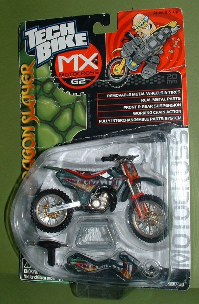 Rare Vintage Tech Deck Mx Motocross Finger Dirt Bike