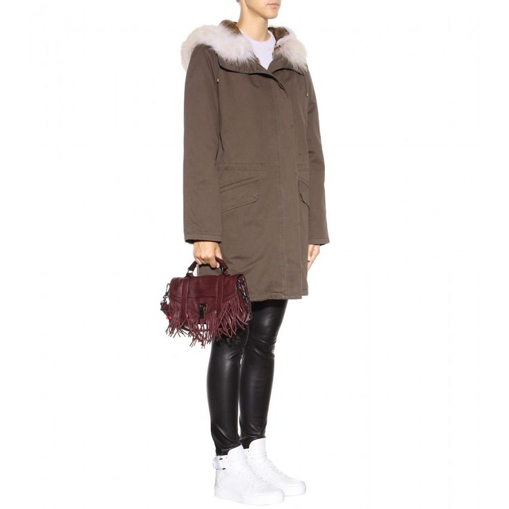 Parka Mit Fell ☼ Army By Yves Salomon