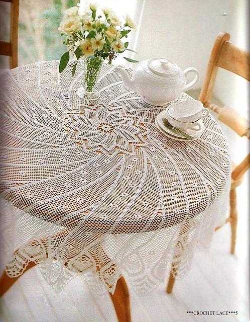 Edi-bk's Spirala crochet table cloth (rav link)