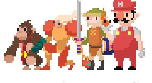 Nintendo Pixel Art Animations  Art created byTom Lewis