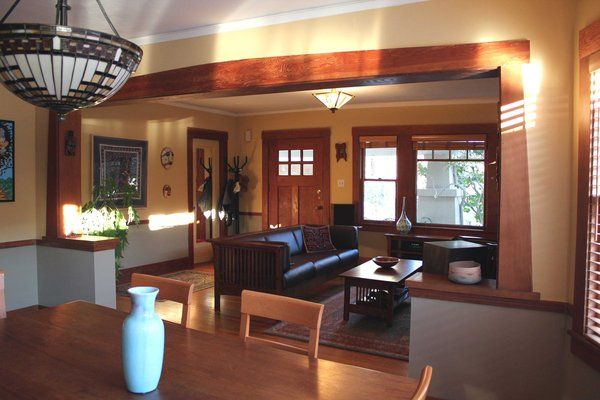 Craftsman Style Bungalow Homes Decor Interior Decorating